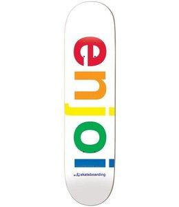 "Enjoi Spectrum White 8.0"" Deck"