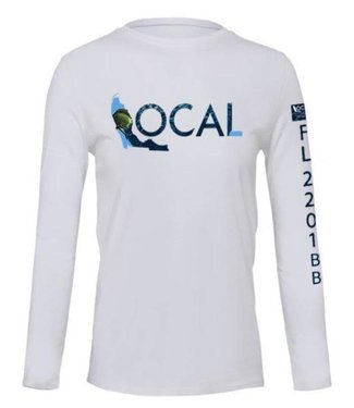 The Local Brand Deep Sea White Performance Shirt