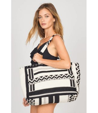 Amuse Society Pack It Up Black Sands Tote