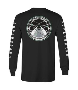 SUPER BRAND Orbit Black Long Sleeve Tee