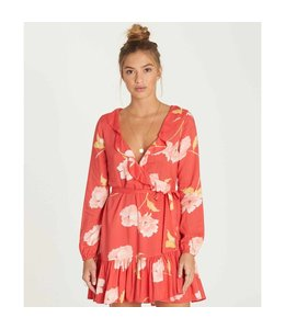 Billabong Ruff Girls Club Geranium Mini Dress