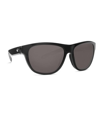 Costa Del Mar Bayside Shiny Black 580P Gray Lens Sunglasses