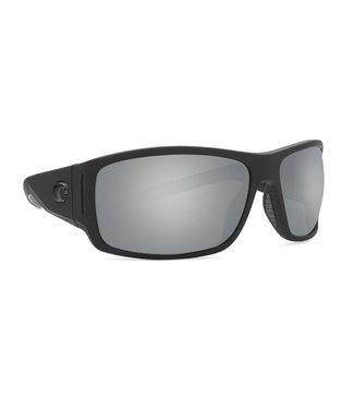 Costa Del Mar Cape Matte Black Ultra 580P Silver Lens