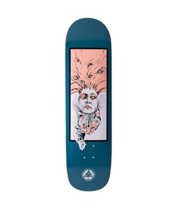 "WELCOME Stoker on Big Bunyip Deep Blue 8.5"" Skate Deck"