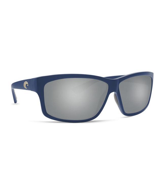 Costa Del Mar Cut Matte Atlantic Blue 580P Silver Mirror Gray Lens Sunglasses
