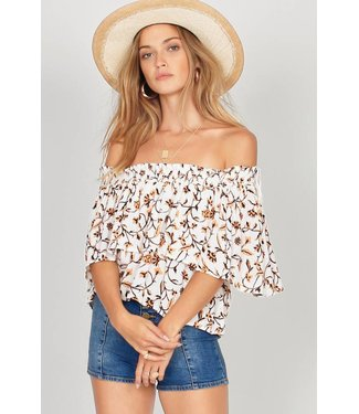 Amuse Society In Your Dreams Honey Woven Top