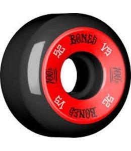 Bones 100's V5 52mm Red on Black Skate Wheels