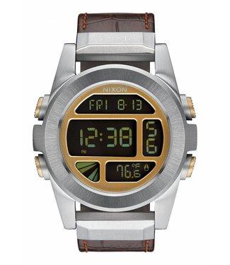 Nixon Unit SS Leather Brown Gator 44mm Watch