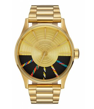 Nixon Sentry SS Star Wars C-3PO Gold Watch