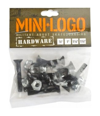 "MINI LOGO 1.5"" Black Skate Hardware Single Pack"