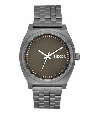 Nixon Time Teller All Gunmetal Slate and Orange Watch