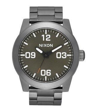 Nixon Corporal SS All Gunmetal Slate and Orange Watch