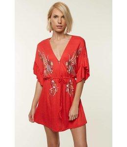 ONEILL Mikhaela Poppy Red Dress