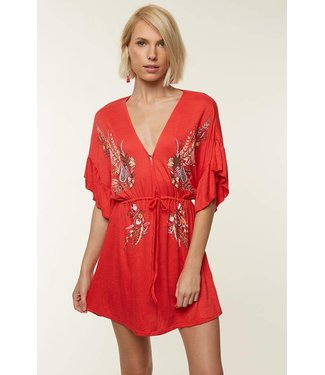 ONEILL Mikhaela Poppy Red Dress