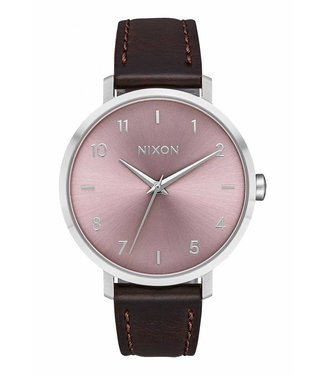 Nixon Arrow Leather Silver and Pale Leather Watch