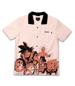 Primitive Skateboarding x DBZ Dragon Engineered Casual Salmon Shirt
