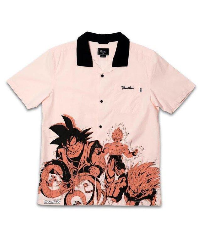 Primitive x DBZ Dragon Engineered Casual Salmon Shirt