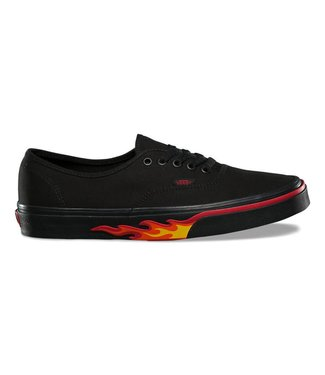 Vans Authentic Black Flame Wall Skate Shoes