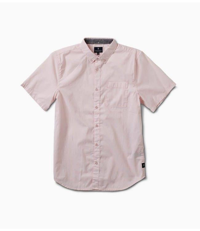 Roark Revival Well Worn Dirty Pink Short Sleeve Woven  Shirt