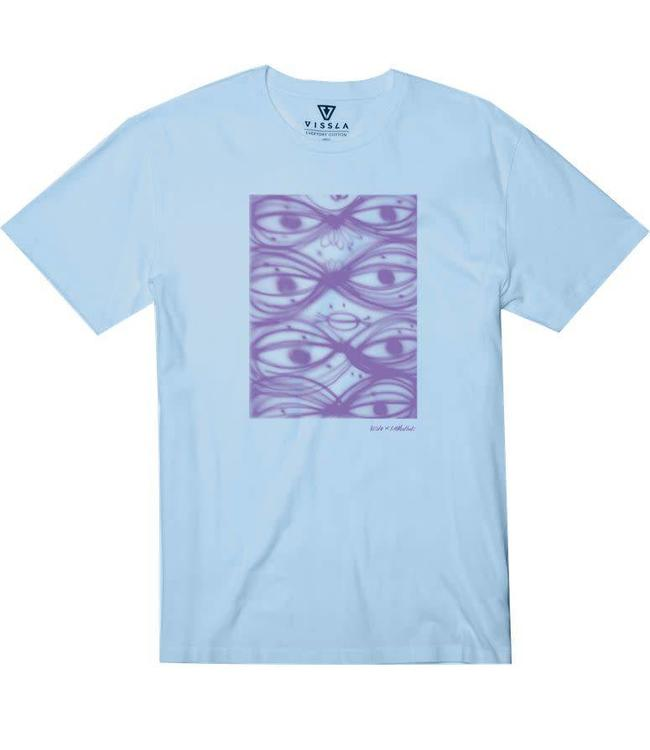 VISSLA T. Muckluck Light Blue Heather Tee