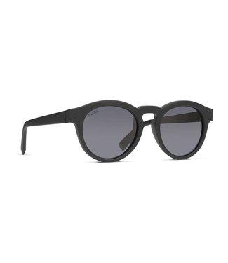 Vonzipper Ditty Black Satin with Wild Vintage Grey Polar Lens Sunglasses