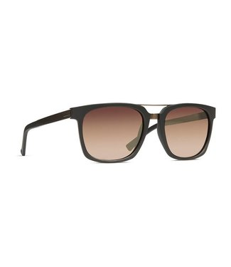 Vonzipper Plimpton Black Satin with Rust Gradient Lens Sunglasses