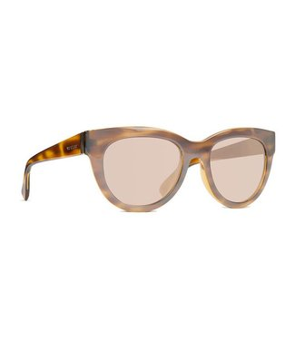 Vonzipper Queenie Frosted Tort with Gold Chrome Gradient Lens Sunglasses