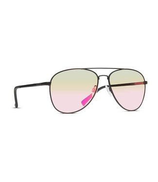 Vonzipper Farva Black Satin with Pink Chrome Lens Sunglasses