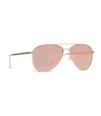 Vonzipper Statey Gold Satin with Rose Gold Chrome Lens Sunglasses