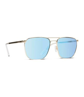 Vonzipper League Gold Gloss with Blue Chrome Lens Sunglasses