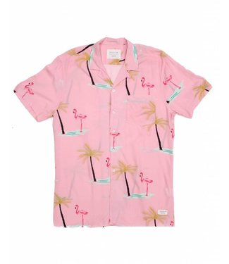 Duvin Design Co. Palm Pink Buttondown Woven