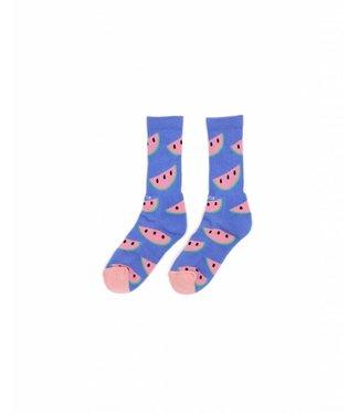 Duvin Design Co. Melon Blue Socks