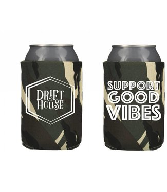 Drift House Drift House Bearded Camo Neoprene Koozie