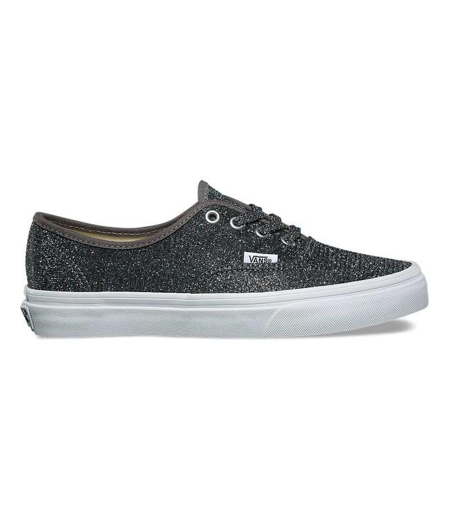 Vans Lurex Glitter Black and True White Authentic Shoes