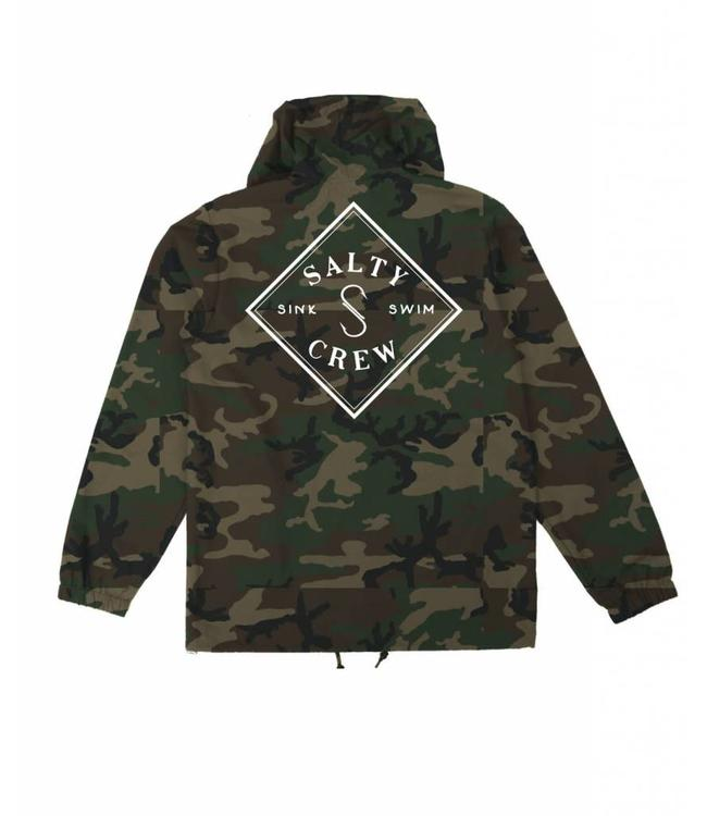 Salty Crew Tippet Cover Up Camo Snap Jacket