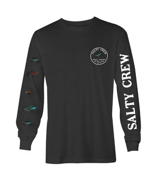 Salty Crew Henshall Charcoal Heather Long Sleeve Tee