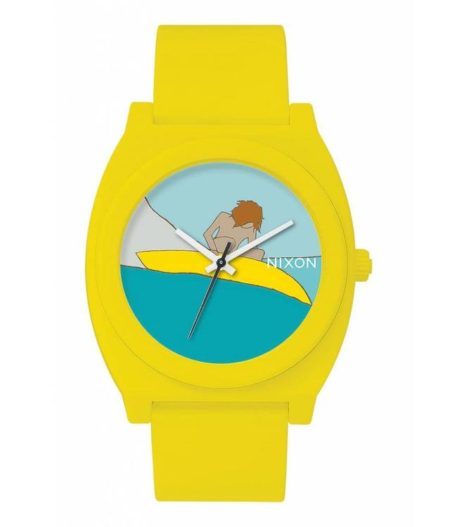 Nixon Time Teller P Andy Davis Yellow Watch