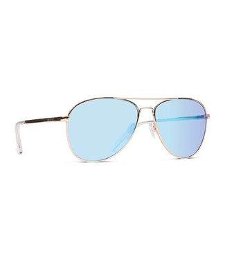 Vonzipper Farva Gold Gloss with Blue Chrome Lens Sunglasses