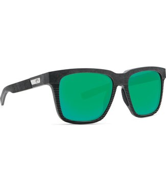 Costa Del Mar Pescador Net Gray with Green Mirror 580G Lens Sunglasses