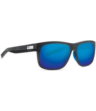 Costa Del Mar Baffin Net Grey with Grey Rubber Blue Mirror 580G Lens Sunglasses