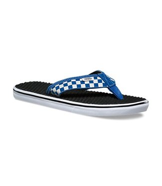 Vans La Costa True Blue White Checkerboard Lite