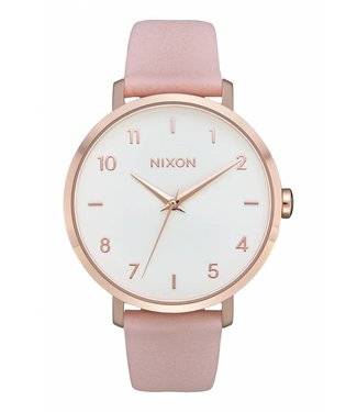 Nixon Arrow Rose Gold and Light Pink Leather Watch