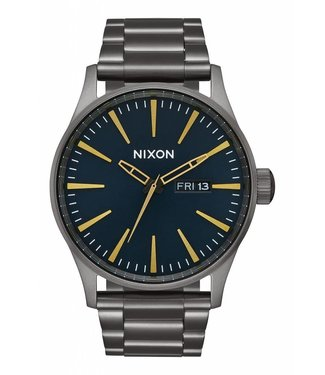 Nixon Sentry SS Gunmetal and Indigo Watch