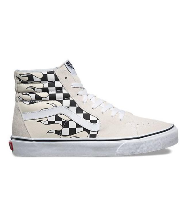 Vans Checker Flame Sk8-Hi Shoes