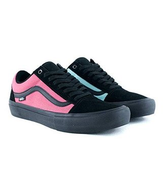 Vans Black with Rose and Aqua Old Skool Pro