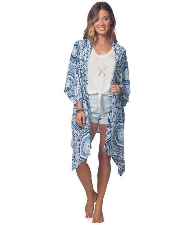Rip Curl La Playa Mid Blue Kimono