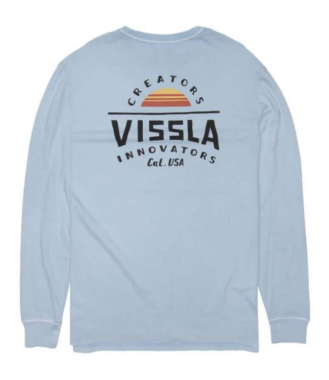 VISSLA Alba Ice Blue Long Sleeve Pocket Tee