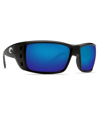 Costa Del Mar Permit Blackout 580P Blue Mirror Lens Sunglasses