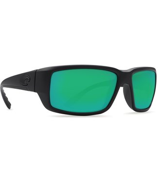 Costa Del Mar Fantail Blackout 580G Green Mirror Lens Sunglasses