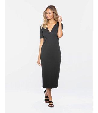 TAVIK Bobbie Midi Rib Black Dress